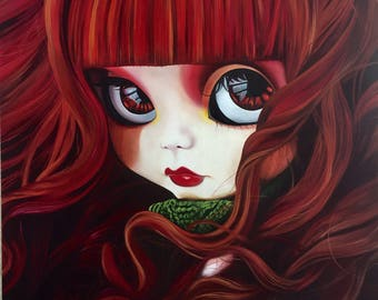 Portrait of a Red Hair Blythe Doll