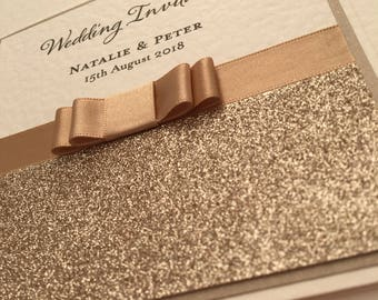 Simply Elegant - Hand Crafted Wedding Invitation