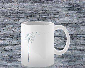 Colorful Mug - Tea Mug - Coffee Mug - Printed Mug - Ceramic Mug - Dandelion Mug