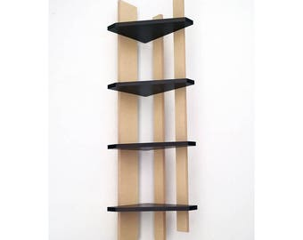 Free ship! Corner shelf 2 Shelves Floating shelf Wall shelves Corner bookshelf Storage shelves Wooden shelves Corner shelf Corner wall shelf
