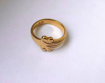Ornamented ring 24 ct goldplated