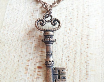 Majesty // Metal Skeleton Key Necklace