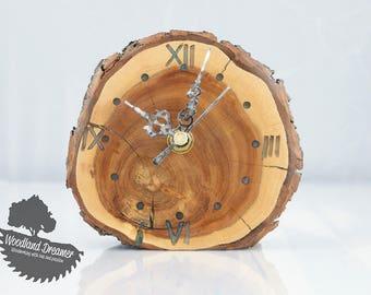 Wood Slice Clock Etsy