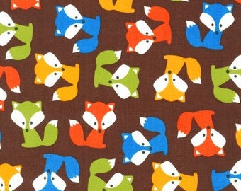 Ann Kelle - Urban Zoologie Fox Brown by Robert Kaufman Cotton Quilting Fabric by meter (1.1 yard)