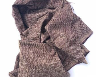Purple Tweed Designer Fabric Remnant