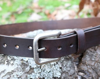 "Full grain leather belt - 1 1/2"" - Hermann Oak leather - made to order"