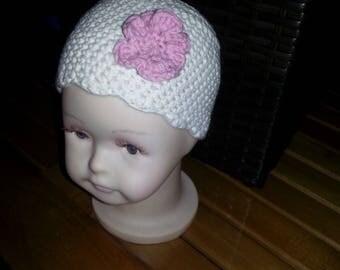 Premmie/newborn crocheted adorable hat
