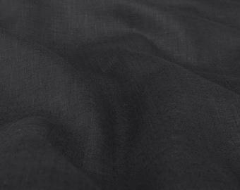 Linen Fabric | Black | Linen | Fabric | Linen Cloth | Linen Fabric By The Yard | Textile Fabrics | Woven Fabric | Organic Fabric | European