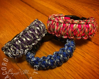 Color of Camouflage 550 Type III Paracord King Cobra Bracelets
