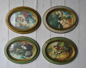 Set of Italian framed prints