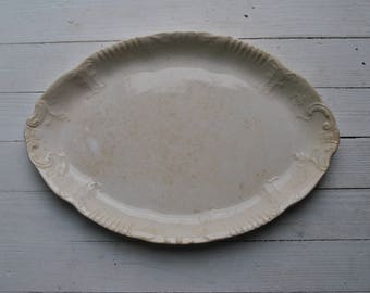 1930s Knowles Taylor Knowles semi vitreous platter