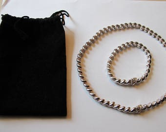 Sterling Silver 925 Italy necklace and bracelet set