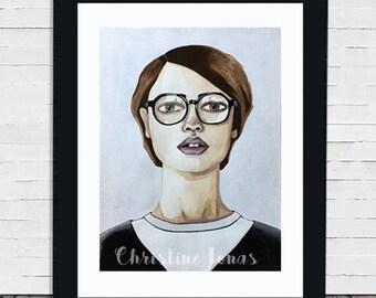 Nicole -- Original Watercolor Portrait Painting