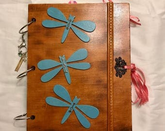 Blue Dragonfly Junk Journal Scrapbook