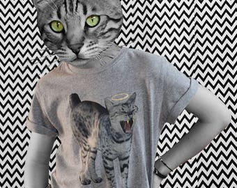 T-SHIRT cat bio organic fair wear cat