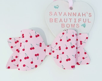 Pink & Red Cherry Bow
