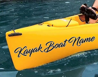 Kayak Custom Boat Name Decal, Custom Made Kayak Decal, Your Boat Name Sticker, Boat Name Decal, Kayak Decals, Kayak Stickers, Boat Decals