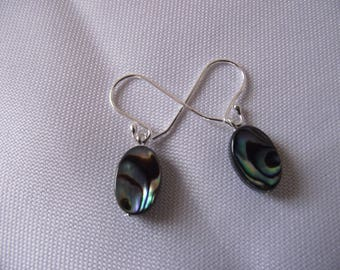 Abalone Shell Earrings with Sterling Silver Ear Wires