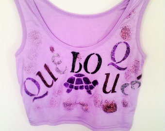 Fashion Tank Top for Summer. S/M Light Purple Tshirts