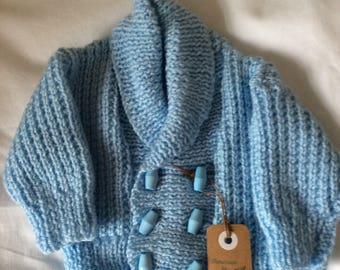 Hand knitted baby boys Cardigan/jacket