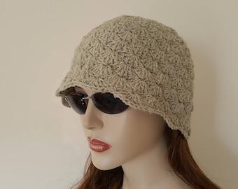 Womens Crochet Hat, Cloche Hat,Lemon green mold Hat,Mild green Hat,Chemo Hat,