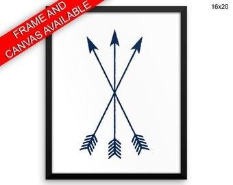 Arrows Printed  Poster Arrows Framed Arrows Living Room Art Arrows Living Room Print Arrows Canvas Arrows tribal arrows navy blue arrows