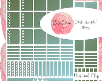Paradise Kale Planner Sticker Set