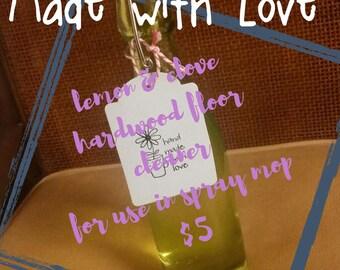 lemon & clove hardwood floor cleaner (for use in spray mops)