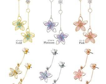 Two-way Wear Painted Flowers Earrings