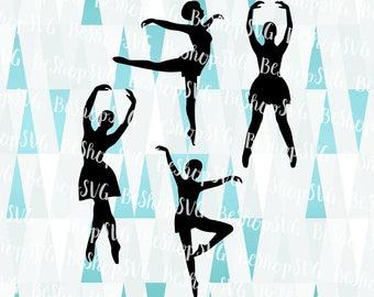 Ballet dancers SVG, Ballerina SVG, Ballet Silhouette SVG, Ballet Svg, Dancers Svg, pointe Svg, Instant download, Eps - Dxf - Png - Svg