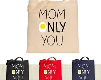 Grandma Tote Bag, Mothers Day Gift Canvas Tote Bag, Printed Tote Bag, Canvas Bag, Market Bag, Shopping Bag, Reusable Grocery Bag