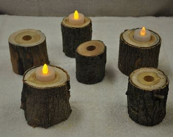 Candle Holders, Rustic