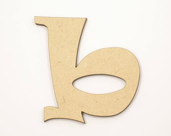 10cm MDF Wood Wooden Letters 3mm Thick RAVL