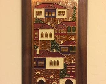 Wood and copper wall art