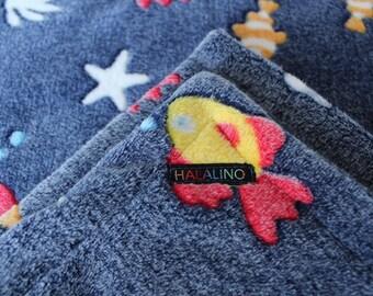 Baby / blankie / baby blanket / fleece / handmade / gift / birth / fish / sea