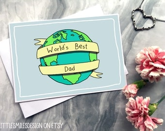 World's Best Dad - Father's Day Card - Cards for Dad