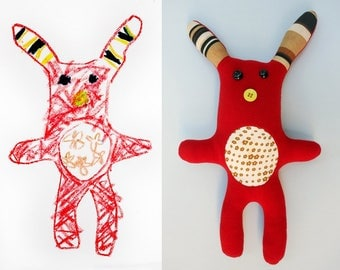 Soft toys from drawings - MADE TO ORDER