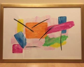Original Abstract Art Painting 'Alpas'
