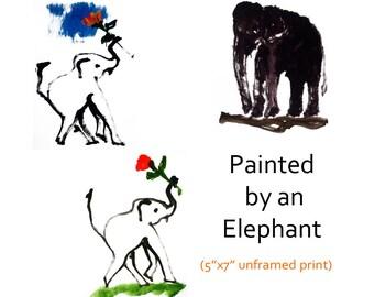 Original elephant painting print Original elephant art print Elephant print Elephant home decor Elephant wall art Elephant wall decor