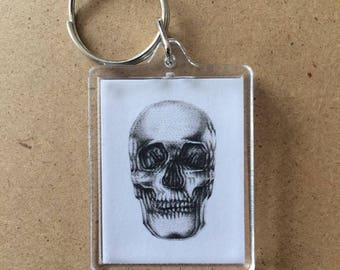 Skull Design Key Ring