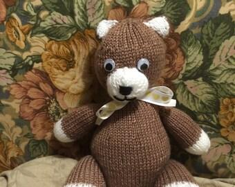 Hand Knitted Teddy Bear