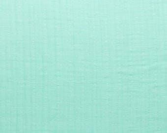 Embrace Double Gauze Fabric in Solid Embrace opal(bright mint green) -100% Cotton Muslin fabric by the yard