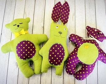 Set of toys for little baby