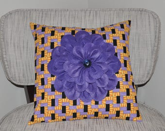 Home decor flower decorative pillow