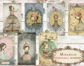 Mirabelle _ dividers for PERSONAL planner