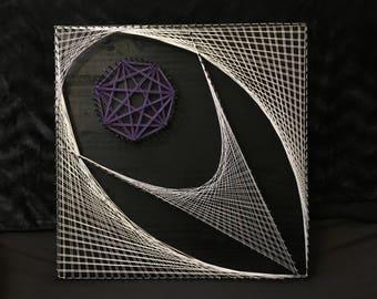 Eyes of hell - ezekielle stringart - Art geometric