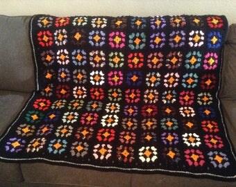 Crochet afghan granny squares