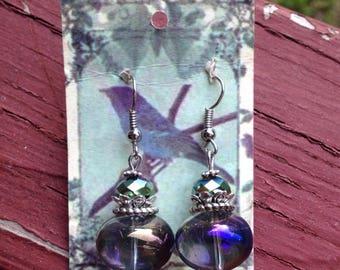 Whimsy Iridescent Glass Earrings