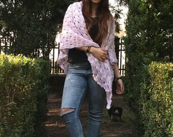 Bright purple scarf