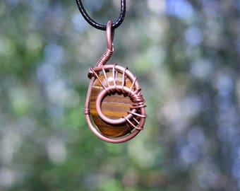 Tigers Eye Spiral of Life